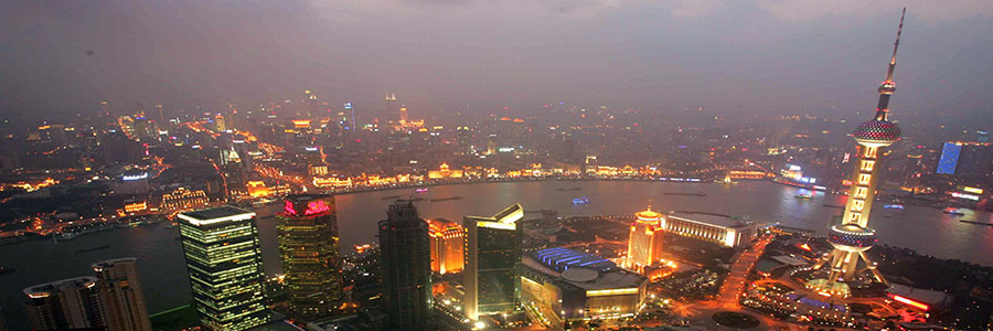Shanghai skyline nightime. Doing business in China. www.graybridgemalkam.com